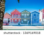 costa nova  portugal  colorful... | Shutterstock . vector #1369169018