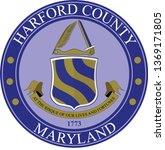coat of arms of harford county... | Shutterstock .eps vector #1369171805