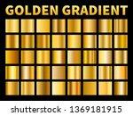 golden gradients. gold squares... | Shutterstock .eps vector #1369181915