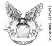spread wing eagle insignia | Shutterstock .eps vector #13691953