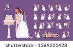 bride and groom on wedding... | Shutterstock .eps vector #1369221428
