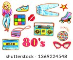 80s style on a white background.... | Shutterstock . vector #1369224548