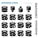 database vector icon set | Shutterstock .eps vector #1369242908