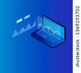 isometric laptop trading... | Shutterstock .eps vector #1369253702