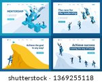 set of landing pages isometric... | Shutterstock .eps vector #1369255118