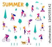 different activities of people... | Shutterstock .eps vector #1369255142