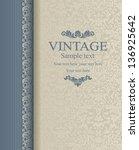 wedding invitation cards... | Shutterstock .eps vector #136925642