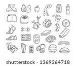 vector illustration black and... | Shutterstock .eps vector #1369264718