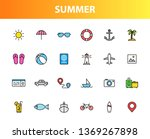set of 24 summer and holiday... | Shutterstock .eps vector #1369267898