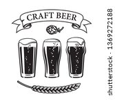 three types of pint beer glass  ... | Shutterstock .eps vector #1369272188