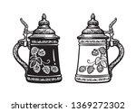 Two German Stein Beer Mugs....