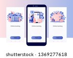 online banking. screen template ...
