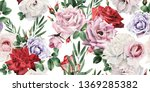 seamless floral pattern with... | Shutterstock . vector #1369285382