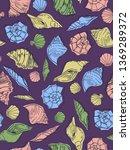 sea theme seamless pattern...   Shutterstock .eps vector #1369289372