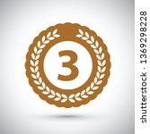 third place medal   Shutterstock .eps vector #1369298228