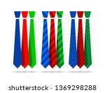 colourful tie set | Shutterstock .eps vector #1369298288