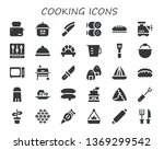 cooking icon set. 30 filled... | Shutterstock .eps vector #1369299542