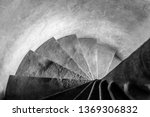 old stone narrow spiral... | Shutterstock . vector #1369306832