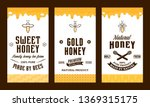 honey labels and packaging... | Shutterstock .eps vector #1369315175