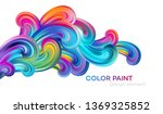 modern colorful flow poster.... | Shutterstock .eps vector #1369325852