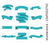 blue ribbon set inisolated... | Shutterstock .eps vector #1369333742