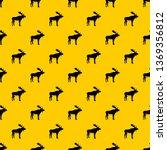deer pattern seamless repeat... | Shutterstock . vector #1369356812