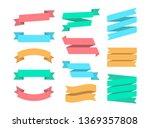 ribbons set of 12 bunners.... | Shutterstock .eps vector #1369357808