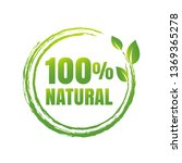 100  natural product white...   Shutterstock .eps vector #1369365278