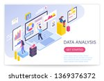 data analysis process  big data ... | Shutterstock .eps vector #1369376372