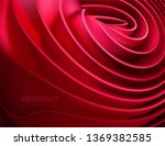 smooth red shape. twisted... | Shutterstock .eps vector #1369382585