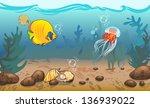 vector illustration. underwater ...   Shutterstock .eps vector #136939022