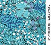 vector floral  seamless pattern ... | Shutterstock .eps vector #136939652