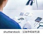 repairman disassembling... | Shutterstock . vector #1369406918