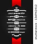 vintage retro typographic...   Shutterstock .eps vector #136942412