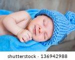 the sweet dream of newborn in... | Shutterstock . vector #136942988