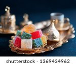 turkish coffee with delight and ... | Shutterstock . vector #1369434962