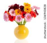 Bouquet Gerber Flowers In Glass ...
