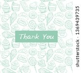 thank you card  note. hand... | Shutterstock .eps vector #1369439735