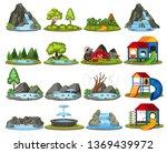 set of islands for decoration... | Shutterstock .eps vector #1369439972