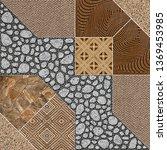 floor tiles design digital | Shutterstock . vector #1369453985