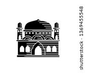 mosque icon vector illustration ... | Shutterstock .eps vector #1369455548