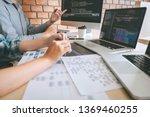 team of professional developer... | Shutterstock . vector #1369460255