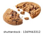 piece of chocolate chip cookie... | Shutterstock . vector #1369463312
