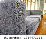 Cat Scratcher At Corner Sofa....