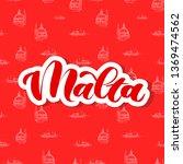 hand lettering of country malta ...   Shutterstock .eps vector #1369474562