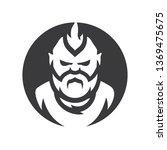 bearded man simple silhouette... | Shutterstock . vector #1369475675
