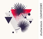 retro abstract background. the... | Shutterstock .eps vector #1369492085