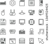thin line vector icon set  ... | Shutterstock .eps vector #1369524425