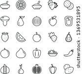 thin line vector icon set  ... | Shutterstock .eps vector #1369531895