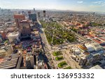 an aerial view of mexico city... | Shutterstock . vector #136953332